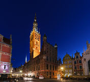 City hall of Gdansk at morning. Poland Royalty Free Stock Photo