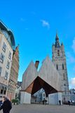 City hall of Ghent and church tower of Belfort Royalty Free Stock Photography