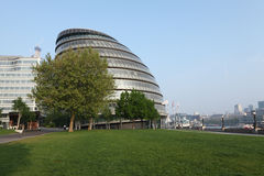 City Hall of GLA in London city England UK. Egg shaped modern glass and steel City Hall building, part of the More London Riverside estate location in London Stock Photography