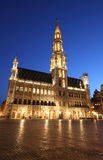 The city hall and Grand Place - Brussels, by night. The city hall and Grand Place from Brussels, Belgium (night shot Stock Image