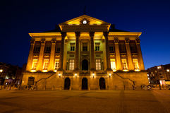 City Hall in Groningen city at night Royalty Free Stock Image