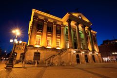 City Hall in Groningen city at night Stock Photo