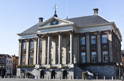 City Hall of Groningen in the Netherlands. The Dutch Groningen City Hall, situated on the Grote Markt, is the seat of government in Groningen. The design of the Royalty Free Stock Image