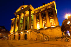 City Hall in Groningen at night Royalty Free Stock Image