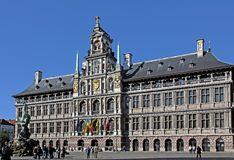 City Hall on Grote Markt, Antwerpen, Belgium. Royalty Free Stock Photography