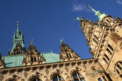 The city hall of Hamburg Royalty Free Stock Photo