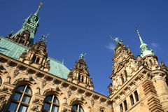 The city hall of hamburg Stock Photo