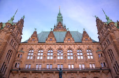 City Hall of Hamburg, Germany Royalty Free Stock Images