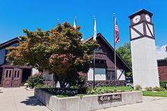 City Hall in Highland, Illinois Royalty Free Stock Photo
