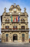 City hall in the historical center of Pamplona Royalty Free Stock Photo