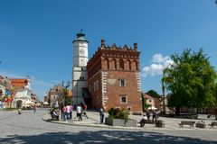 City Hall In Sandomierz In Poland. Stock Photography