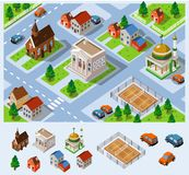 City Hall Isometric Royalty Free Stock Images