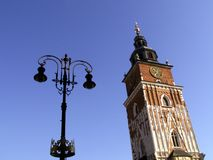 The City Hall in Krakow. One of the most characteristic buildings in Krakow Royalty Free Stock Images