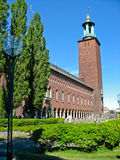 City Hall in Kungsholmen (Stockholm, Sweden) Royalty Free Stock Images