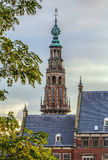 City hall, Leiden, Netherlands. Tower of the city hall of the city of Leiden, Netherlands Stock Photography
