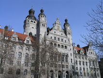 City Hall Of Leipzig. Front view of the city hall of Leipzig, Germany Royalty Free Stock Photo