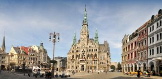 City Hall in Liberec - panorama Royalty Free Stock Images
