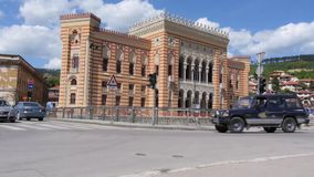 City hall, library Sarajevo 1 stock footage