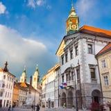 City hall of Ljubljana, Slovenia, Europe. Royalty Free Stock Photos