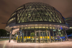 City Hall, London at night. London City Hall, headquarter of London Authority, which comprises the Mayor of London and the London Assembly, photograph taken at Royalty Free Stock Photography