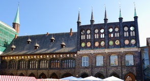 City Hall in Lubeck, Germany Stock Photography