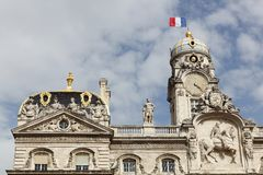 The city hall in Lyon, France Stock Photography