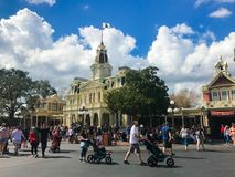 City Hall Magic Kingdom. Guests of the Magic Kingdom begin their adventure at Walt Disney World in Orlando, Florida Stock Photos