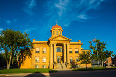 City Hall. On main highway through Belle Fourche, SD Stock Image