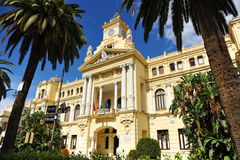 City Hall, Malaga, Andalusia, Spain Royalty Free Stock Photos
