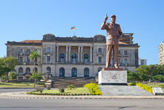 City hall in Maputo, Mozambique. City hall and statue of Michel Samora in Maputo, Mozambique Stock Photo