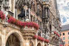 City Hall at Marienplatz in Munich Royalty Free Stock Images