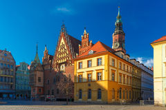 City hall on Market Square in Wroclaw, Poland Royalty Free Stock Photo