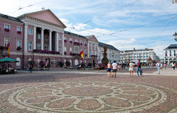 City hall and Marktplatz, Karlsruhe, Germany Royalty Free Stock Image