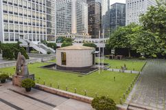 City Hall Memorial Garden. At Hong Kong City Hall, Central District Royalty Free Stock Photography