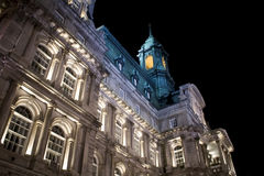 City Hall in Montreal. City Hall at night in Old Montreal Royalty Free Stock Photography