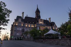 City Hall of Montreal Canada royalty free stock photos