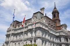 City Hall in Montreal, Quebec Stock Photos