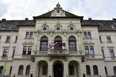 City hall in Mosonmagyarovar in Hungary Royalty Free Stock Images