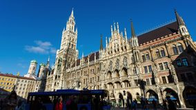The City Hall in Munich stock video