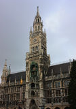 City hall of Munich at the Marienplatz. Tower with clock in the center of Munich, Germany Stock Images