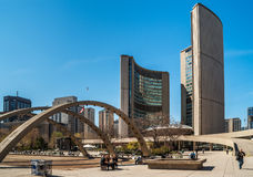 City Hall on Nathan Phillips Square, Toronto Stock Images
