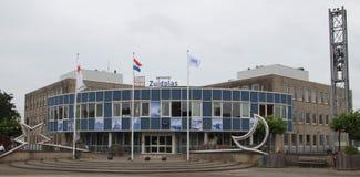 City hall in Nieuwerkerk aan den Ijssel for the municipality of Zuidplas in the Netherlands which were demolish in 2018. City hall in Nieuwerkerk aan den Ijssel stock photos