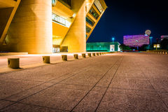 City Hall at night, in Dallas, Texas. Royalty Free Stock Photo