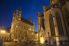 City Hall at Night, Leuven Stock Photography