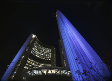 City Hall at night, Toronto