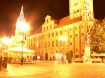 City Hall at night in Torun - Poland royalty free stock image