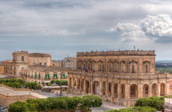 City hall, Noto, Sicily, Italy Royalty Free Stock Photos