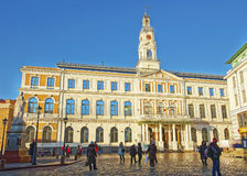 City hall in the Old city of Riga in Latvia Stock Photos