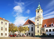 City Hall in the Old Town of Bratislava Stock Photography