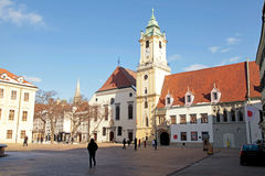 City Hall in the Old Town of Bratislava, Slovakia Royalty Free Stock Image